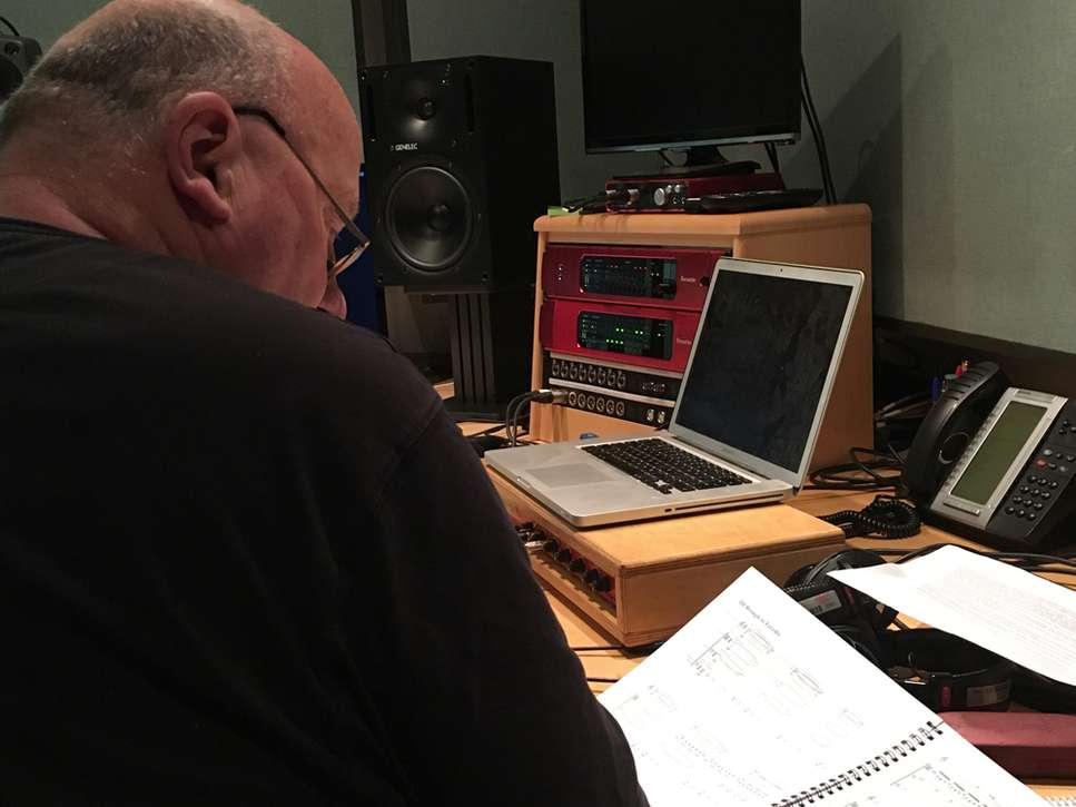 Gavin Bryars in the studio